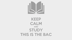 Poster: KEEP CALM AND STUDY THIS IS THE BAC