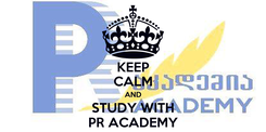 Poster: KEEP CALM AND STUDY WITH PR ACADEMY