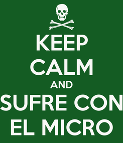 Poster: KEEP CALM AND SUFRE CON EL MICRO