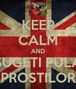 Poster: KEEP CALM AND SUGETI PULA PROSTILOR