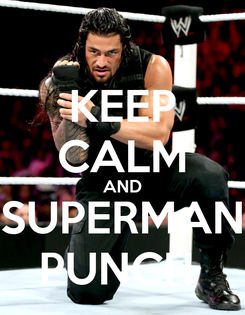 Poster: KEEP CALM AND SUPERMAN PUNCH