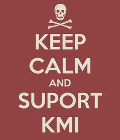 Poster: KEEP CALM AND SUPORT KMI