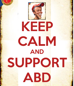 Poster: KEEP CALM AND SUPPORT ABD