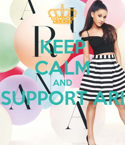 Poster: KEEP CALM AND SUPPORT ARI
