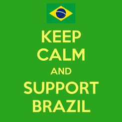 Poster: KEEP CALM AND SUPPORT BRAZIL