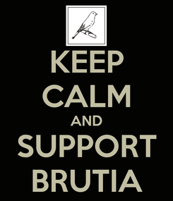 Poster: KEEP CALM AND SUPPORT BRUTIA