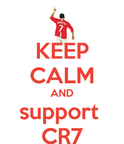 Poster: KEEP CALM AND support  CR7