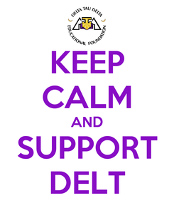 Poster: KEEP CALM AND SUPPORT DELT