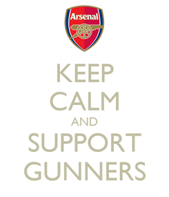 Poster: KEEP CALM AND SUPPORT GUNNERS