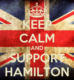 Poster: KEEP CALM AND SUPPORT HAMILTON