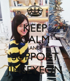 Poster: KEEP CALM AND SUPPORT JINSEYEON