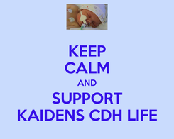 Poster: KEEP CALM AND SUPPORT KAIDENS CDH LIFE