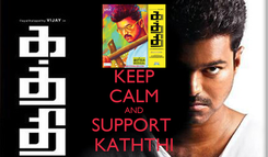 Poster: KEEP CALM AND SUPPORT  KATHTHI