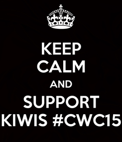 Poster: KEEP CALM AND SUPPORT KIWIS #CWC15