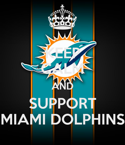 Poster: KEEP CALM AND SUPPORT MIAMI DOLPHINS