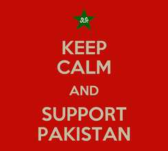 Poster: KEEP CALM AND SUPPORT PAKISTAN