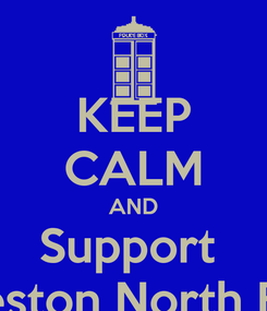 Poster: KEEP CALM AND Support  Preston North End