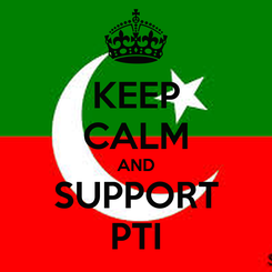 Poster: KEEP CALM AND SUPPORT PTI