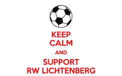 Poster: KEEP CALM AND SUPPORT RW LICHTENBERG