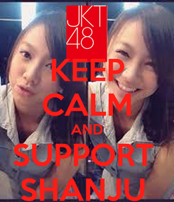 Poster: KEEP CALM AND SUPPORT  SHANJU