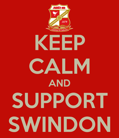Poster: KEEP CALM AND SUPPORT SWINDON