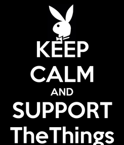 Poster: KEEP CALM AND SUPPORT TheThings