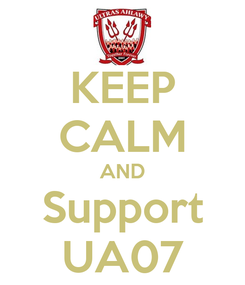 Poster: KEEP CALM AND Support UA07