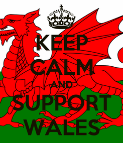 Poster: KEEP CALM AND SUPPORT WALES