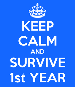 Poster: KEEP CALM AND SURVIVE 1st YEAR