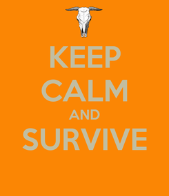 Poster: KEEP CALM AND SURVIVE