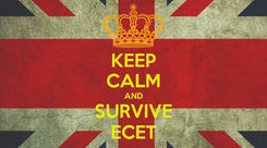 Poster: KEEP CALM AND SURVIVE ECET
