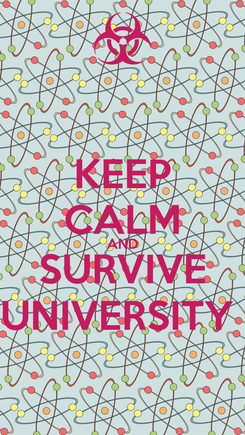 Poster: KEEP CALM AND SURVIVE UNIVERSITY