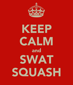 Poster: KEEP CALM and SWAT SQUASH