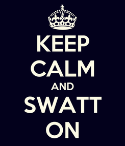 Poster: KEEP CALM AND SWATT ON