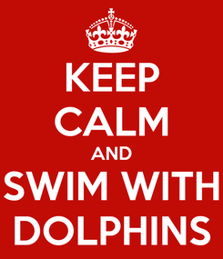 Poster: KEEP CALM AND SWIM WITH DOLPHINS