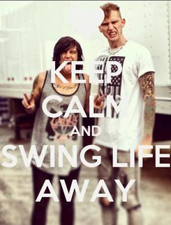 Poster: KEEP CALM AND SWING LIFE AWAY