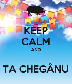 Poster: KEEP CALM AND  TA CHEGÂNU