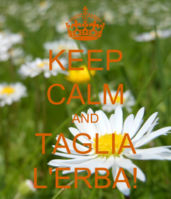 Poster: KEEP CALM AND TAGLIA L'ERBA!