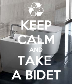 Poster: KEEP CALM AND TAKE  A BIDET