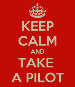 Poster: KEEP CALM AND TAKE  A PILOT