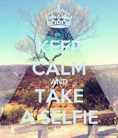 Poster: KEEP CALM AND TAKE A SELFIE