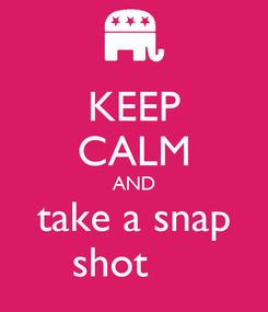 Poster: KEEP CALM AND take a snap shot