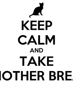 Poster: KEEP CALM AND TAKE ANOTHER BREAK