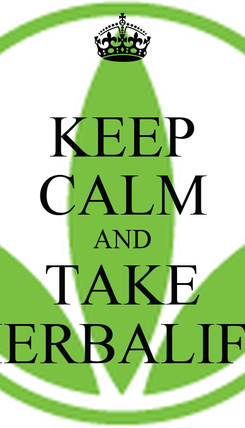 Poster: KEEP CALM AND TAKE HERBALIFE