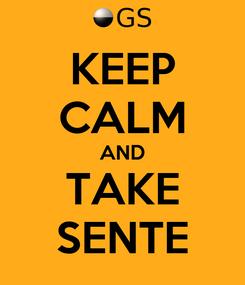 Poster: KEEP CALM AND TAKE SENTE