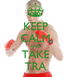 Poster: KEEP CALM AND TAKE TRA
