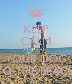 Poster: KEEP CALM AND TAKE YOUR DOG TO THE BEACH