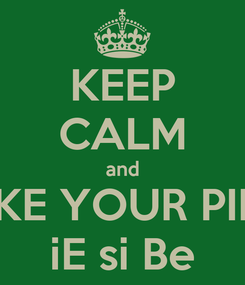 Poster: KEEP CALM and TAKE YOUR PILLS iE si Be