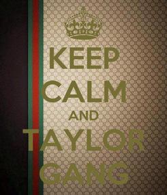 Poster: KEEP CALM AND TAYLOR GANG