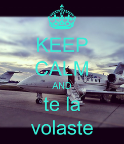 Poster: KEEP CALM AND te la volaste